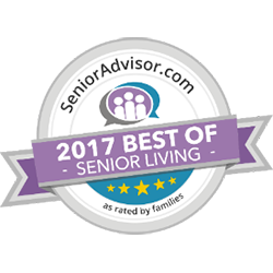 2017 Best of Senior Living Award from SeniorAdvisor.com