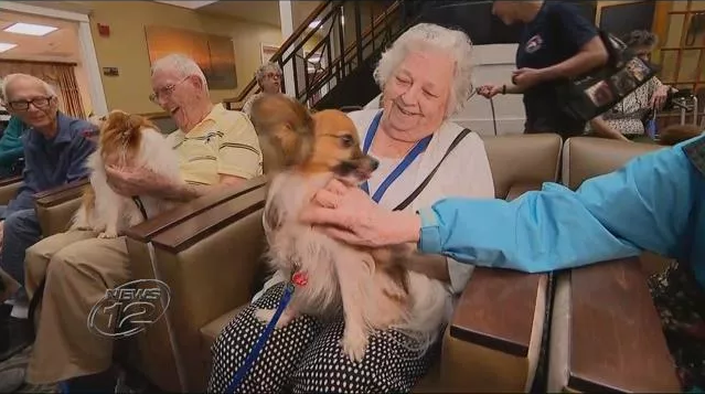 Therapy Dogs Give Residents at Dominican Village Comfort