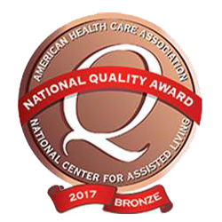 National Quality Award Crest - American Health Care Association and National Center For Assisted Living Award Dominican Village Bronze Award for 2017