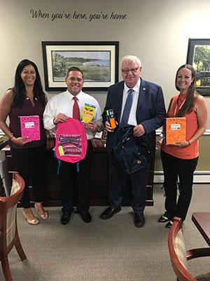 Dominican village with Senator John Brooks sponsor a Back to School Supply Drive