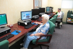 Computer room at Dominican Village