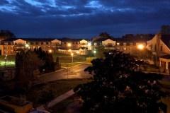 Night Photo Overhead Gazebo Area