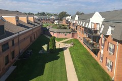 Overhead Photo of Helen Butler Hall and Resident Apartments
