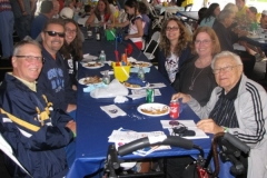 Family Day at Dominican Village outdoor dining