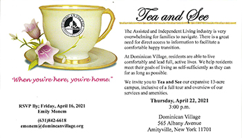 Tea & See Event at Dominican Village