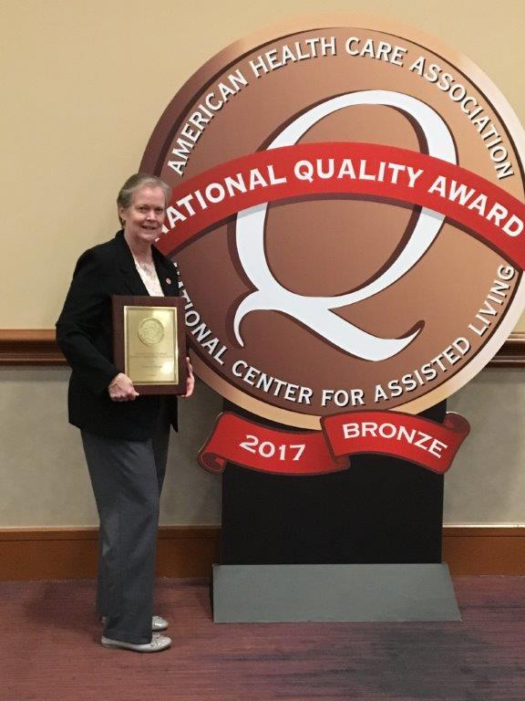 >Dominican Village takes the bronze for its Commitment to Quality Care