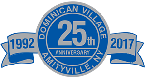 Dominican Village 25th Anniversary Crest.