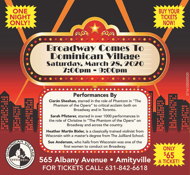Broadway comes to Dominican Village Flyer