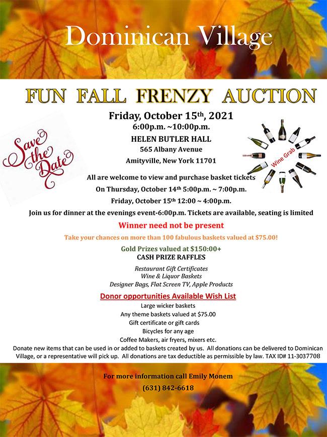 Fun Fall Frenzy Auction 2021