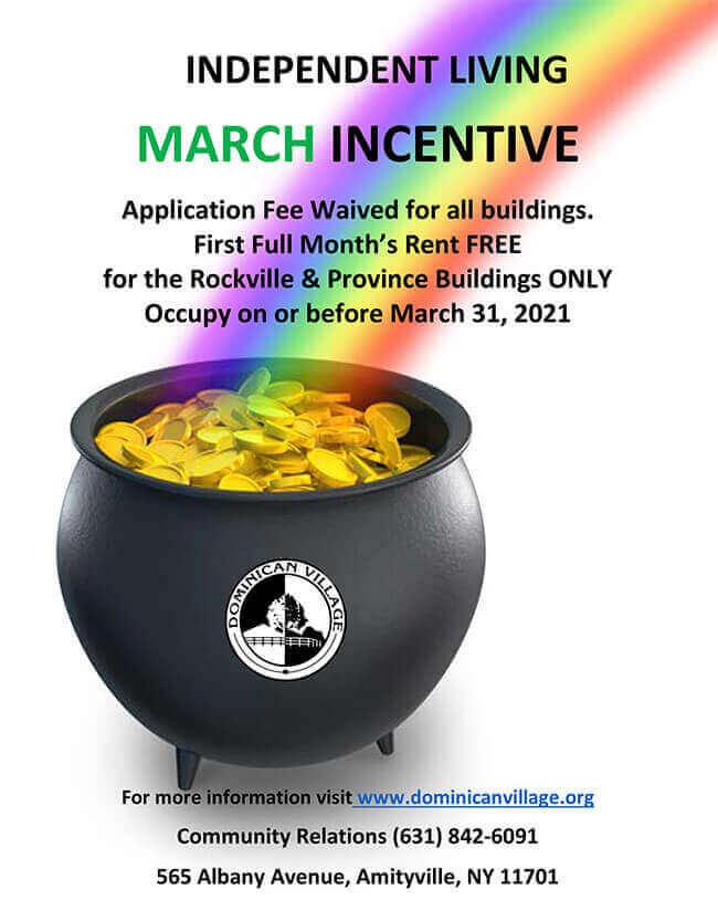 March 2021 Move In Incentive