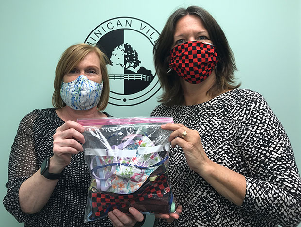 Donated Medical masks at Dominican Village