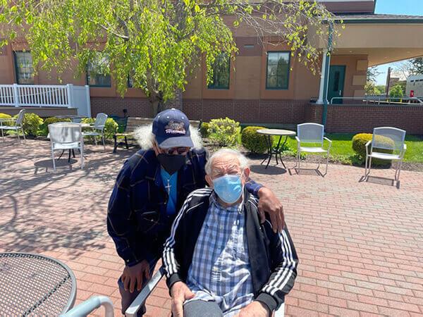 Auggie Osborne & resident Sal Villante