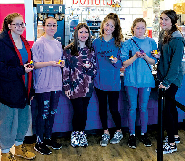 Junior Girl Scout Troop 1818 of West Islip showered the residents of Dominican Village with handmade Valentine's Day Cards